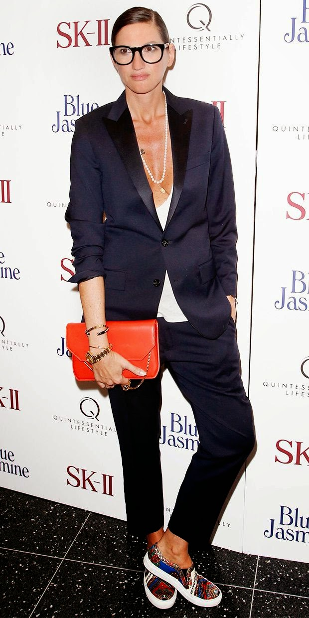 Jenna Lyons in Givenchy skater shoes