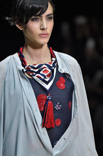 scarf necklace- times- giorgio armani